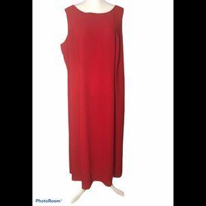 Danny & Nicole red sleeveless dress